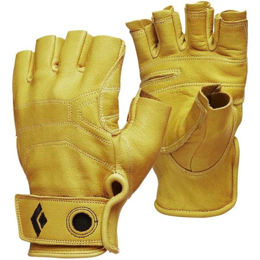 Black Diamond Guanti da Arrampicata Crag Half Finger Gloves Uomo Guanti per Via ferrata