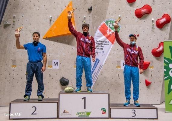 podio maschile campionato arrampicata lead 2020